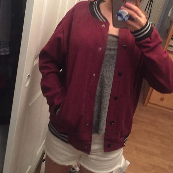Cotton On Jackets & Blazers - Maroon Baseball jacket